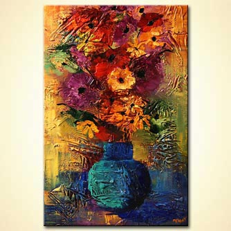 Floral painting - Like a Touch of Your Hand