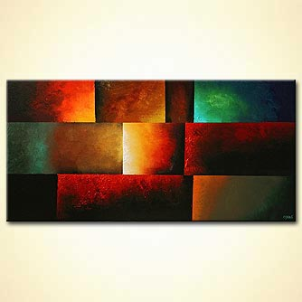 horizontal bright colors modern art colorful