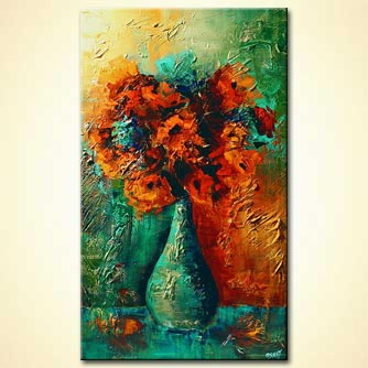 vase with red flowers colorful home decor
