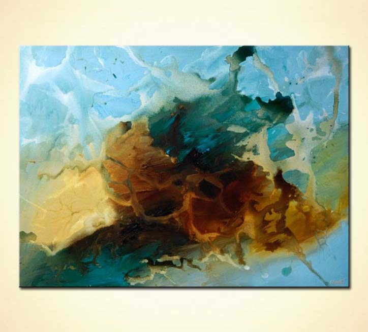 Blue And Brown Modern Painting Memory