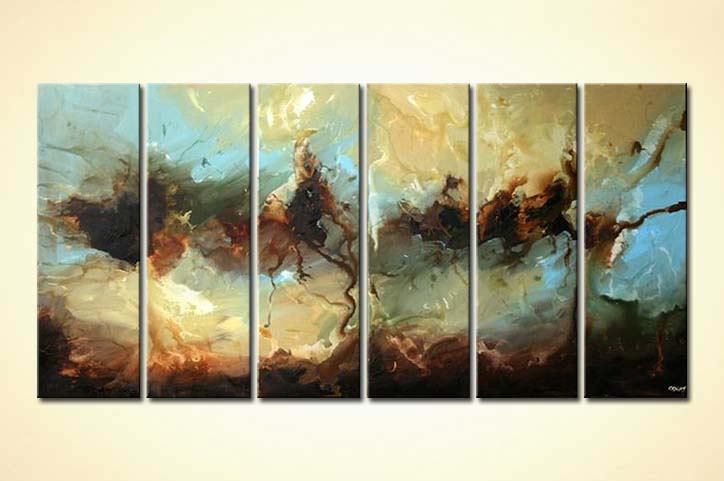 Painting for sale - multi panel abstract decor painting ...