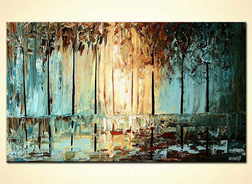 Painting dense forest abstract textured painting 5621