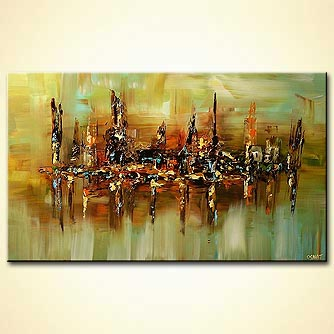 modern abstract art - The City of Orhan