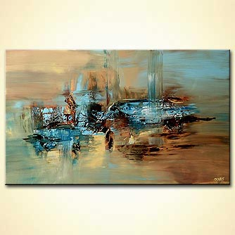 Abstract painting - The River Kings Road