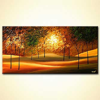 Landscape painting - Green Wood