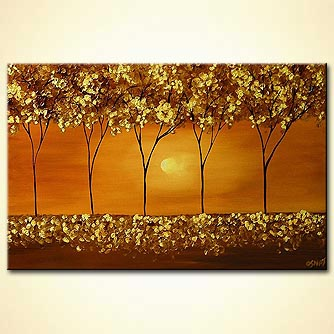 Forest painting - Golden Moments
