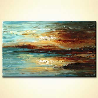 Seascape painting - Tranquility by the Sea