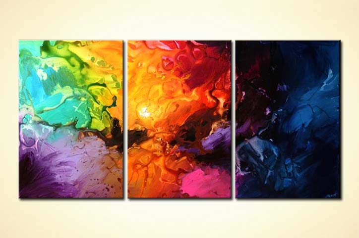 Colorful Abstract Paintings On Canvas Defendbigbird Com