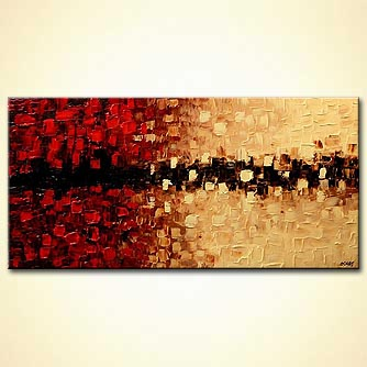 Abstract painting - Blushing