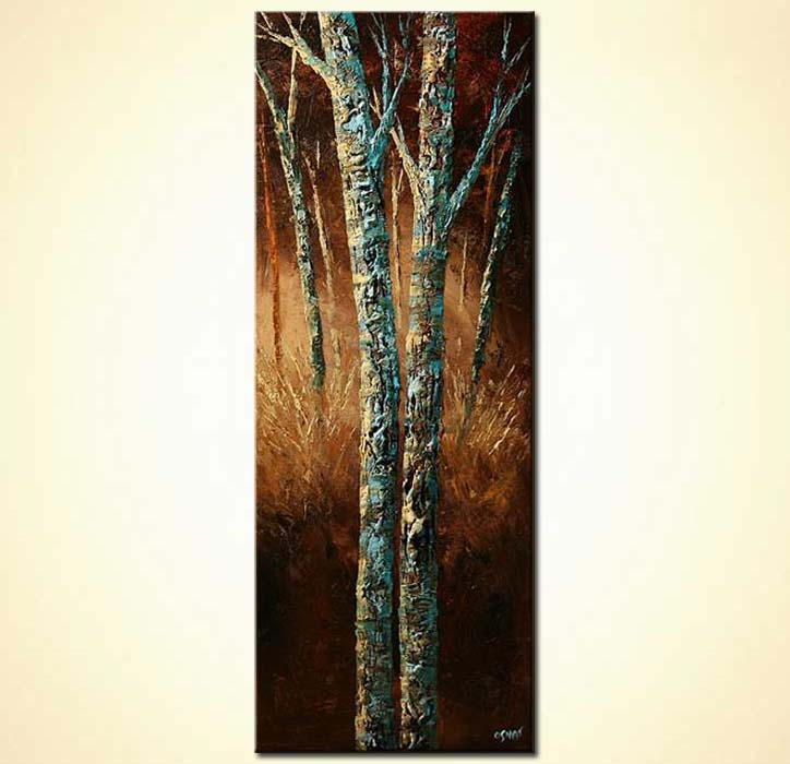 Long Narrow Landscape Paintings On Canvas