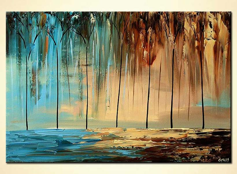 abstract forest home decor by the sea trees