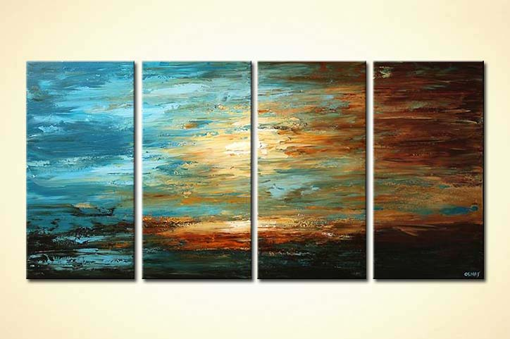 modern abstract art - Tranquility by the Sea