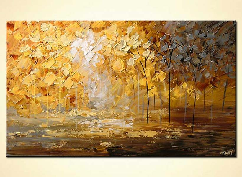 How To Paint Gold Color On Canvas