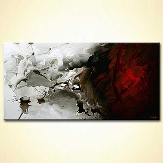 Abstract painting - Fire and Ice