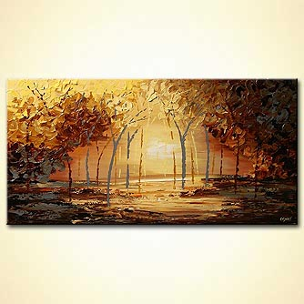 Landscape painting - Dawn