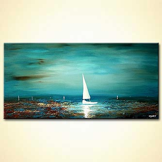 Seascape painting - Sail with me Tonight