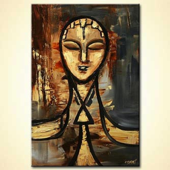 Figure painting - abstract face painting home decor ancient #5763