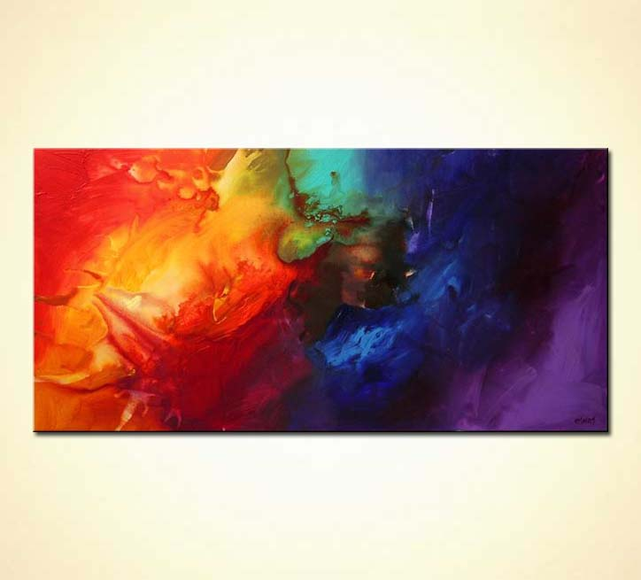 Modern Flower Paintings Canvas