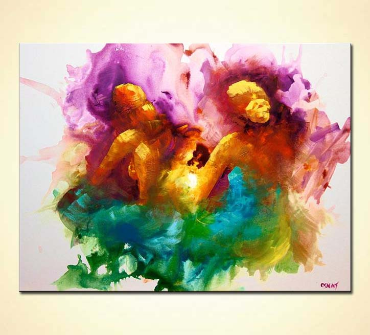 colorful abstract two women