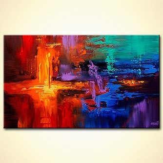 Abstract painting - New World