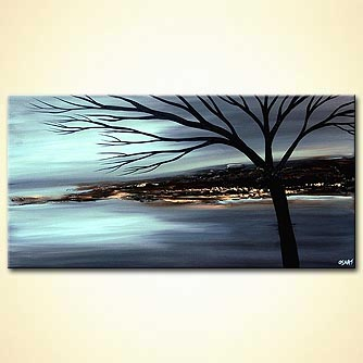 Landscape painting - Blue Dawn