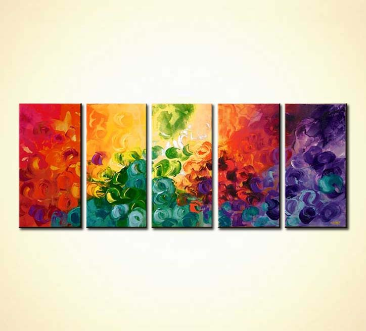 Buy Multi Panel Bold Colorful Abstract Sun 5771