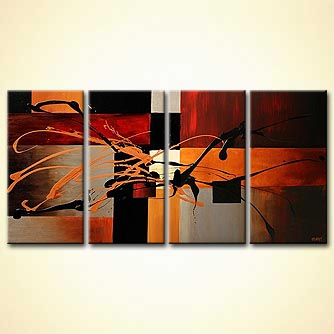 modern abstract art - Just a Kiss