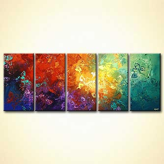 Abstract painting - Where the Butterflies go