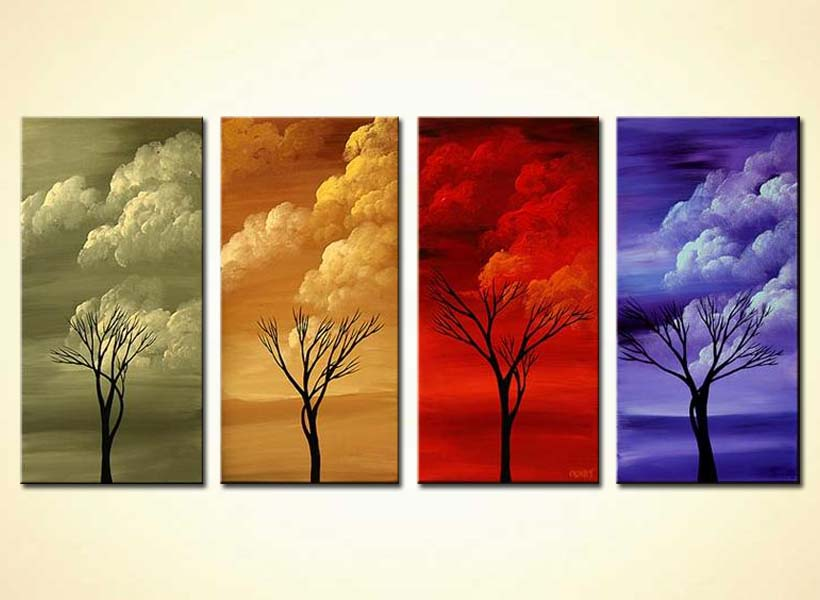 clouds in four seasons home decor colorful