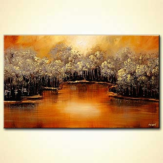 Forest painting - By the Lake