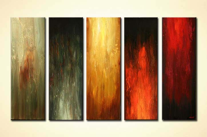 Painting For Sale Five Canvases Abstract Art Solid