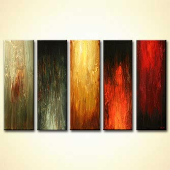 Abstract painting - Standing Tall