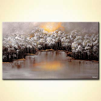 canvas print - By the Lake