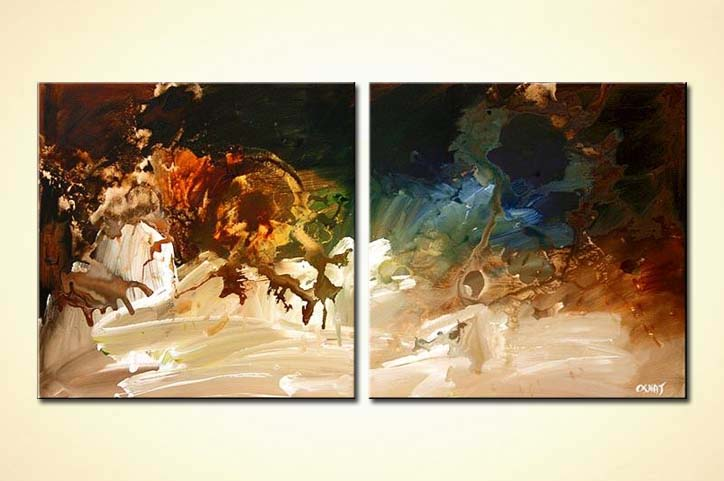 diptych abstract painting