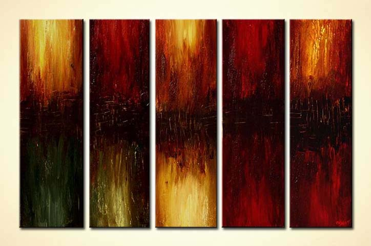 painting large home decor painting multi panel 5838