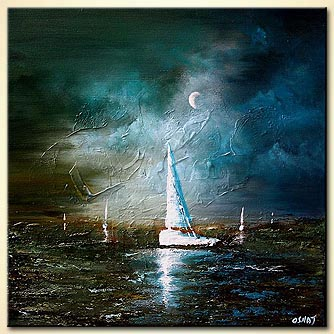 canvas print - Moonlight Sailing