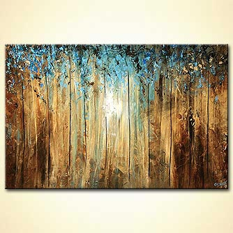 Forest painting - A Ray of Light