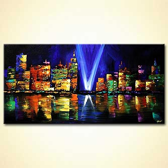 canvas print - The Twin Towers