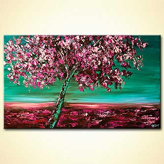canvas print - Under the Cherry Blossom Tree