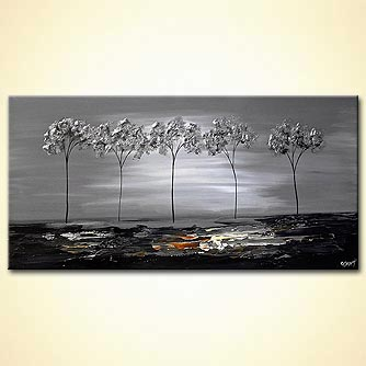 Forest painting - Silver River