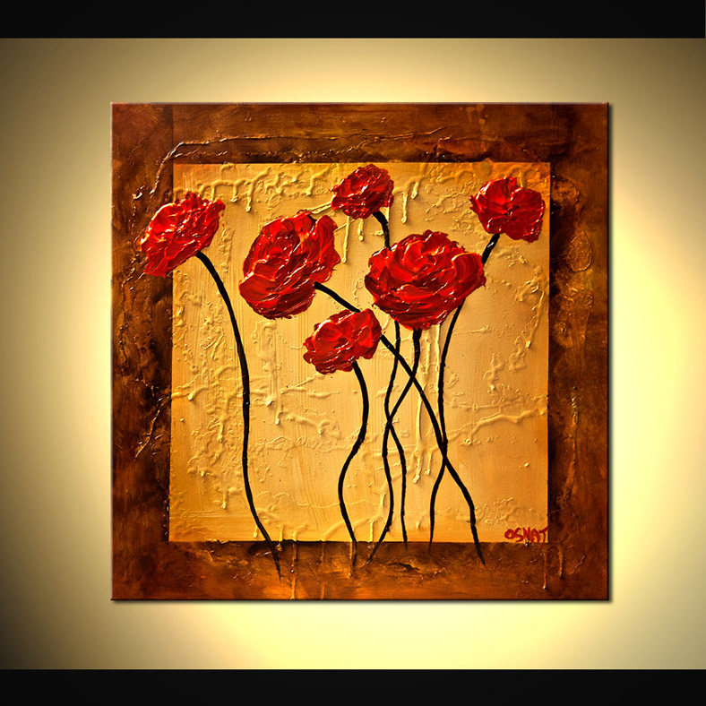red roses border floral flowers decor