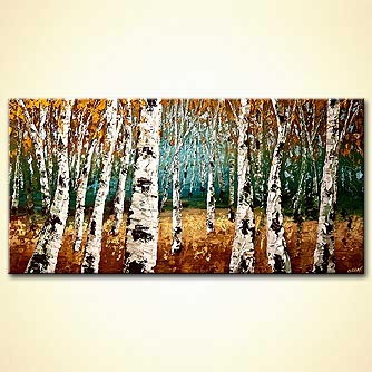 modern abstract art - Enchanted Forest