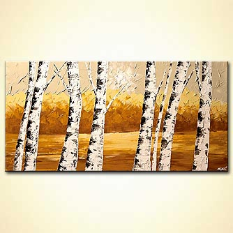 canvas print - By the River Bank