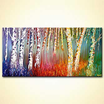 Forest painting - Happiness