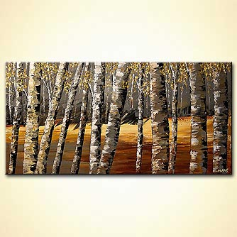 modern abstract art - Deep Forest