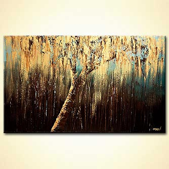 Forest painting - The Weeping Willow