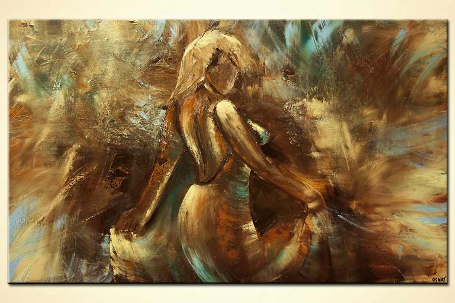 woman dancing wall decor abstract painting