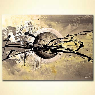 Abstract painting - Impact