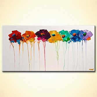 Floral painting - Colors on My Wall