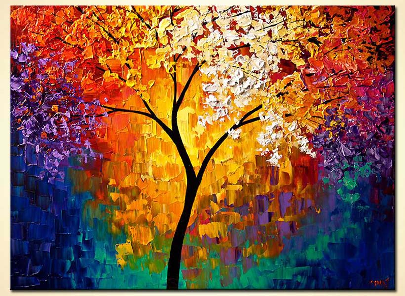 Painting - abstract tree of life #6511